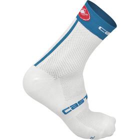 Castelli Free 9 Sokker Blå/Hvit